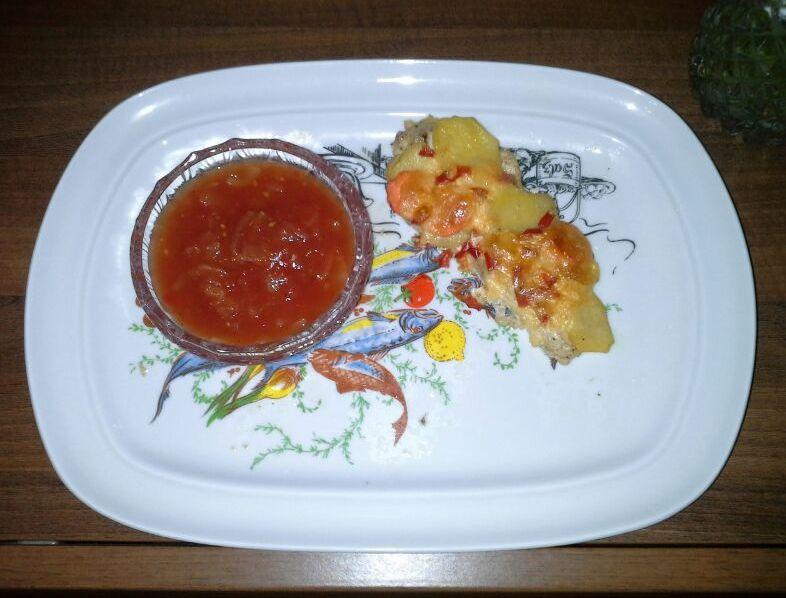 кетчуп из помидор и лука, фото