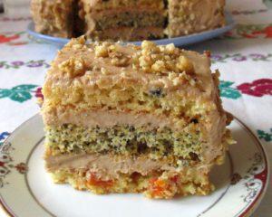 бисквитный торт со сгущенкой простой рецепт , фото