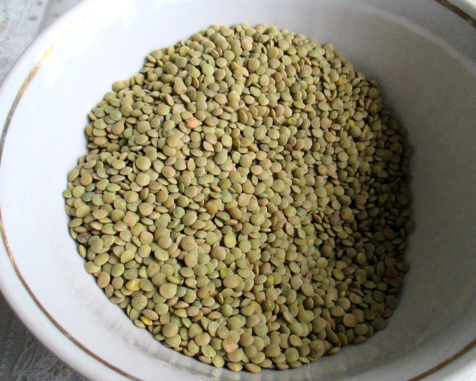 зеленая чечевица, фото