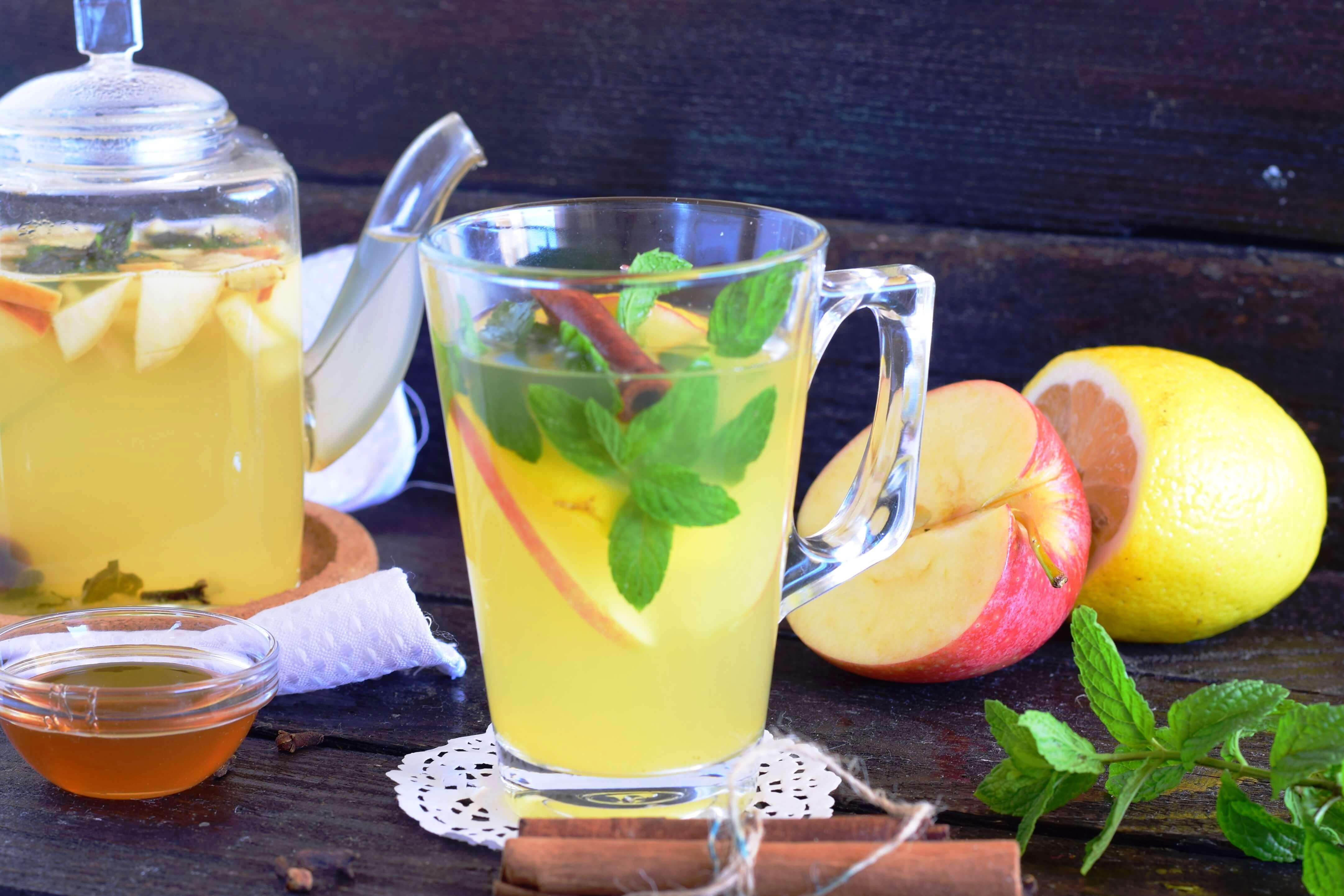 напиток с яблоками фото