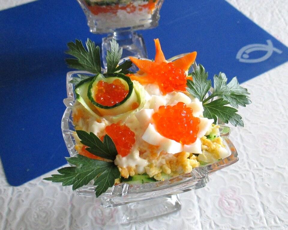 приготовление салат коктейль фото