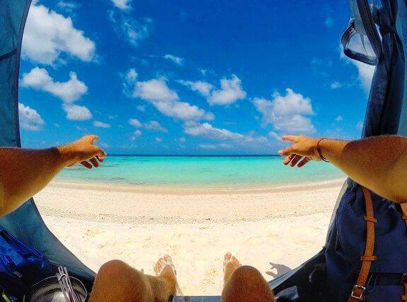 фото голубое море, голубое небо