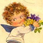 ребенок с букетом