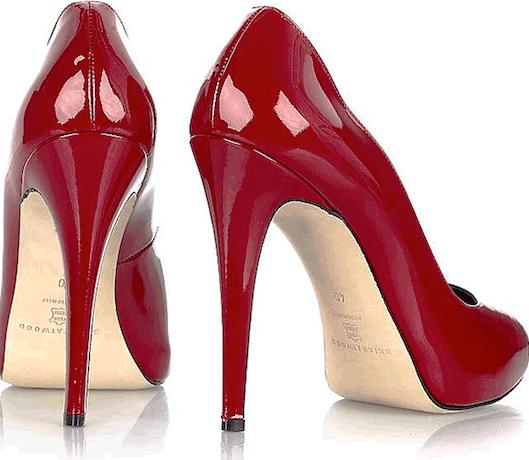 туфли на высоком каблуке красные