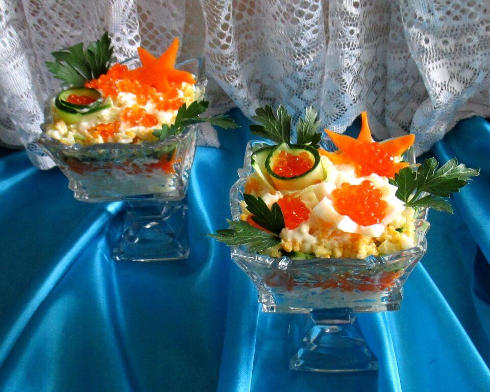 вкусные салаты коктейли с фото