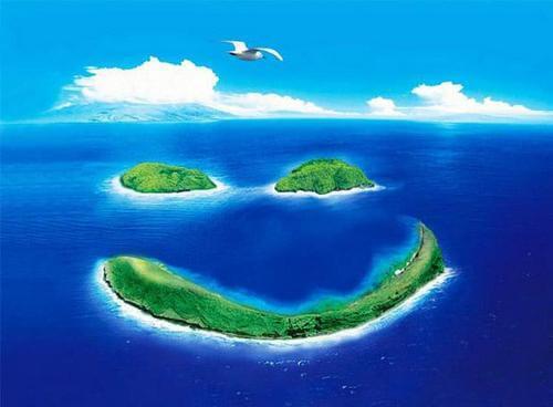 фото море, острова, небо, облака