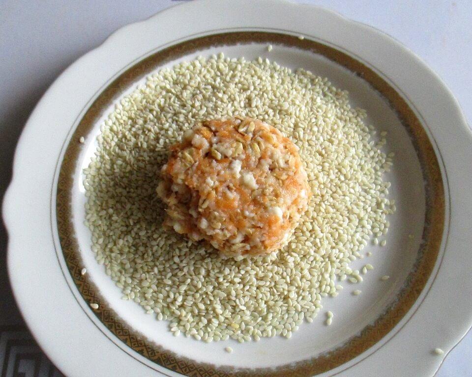 сырники из творога в кунжуте, фото