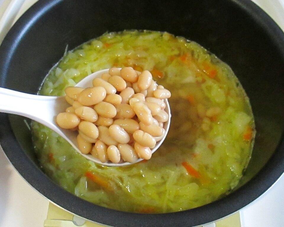 суп с сыром и фасолью фото